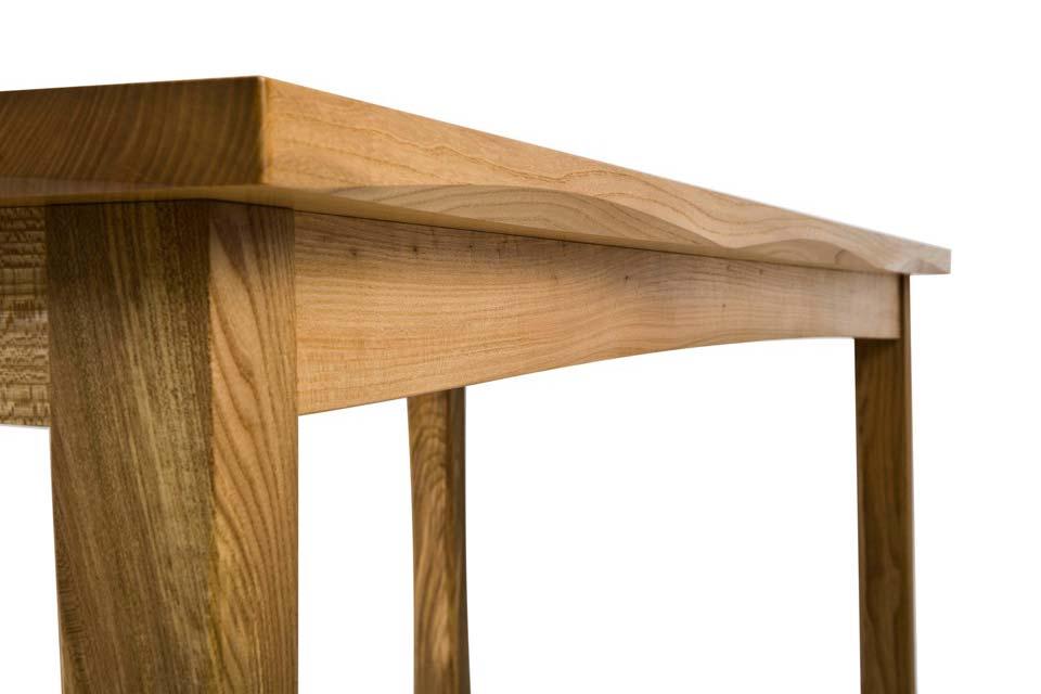 Bespoke Elm Table - chamfer detail