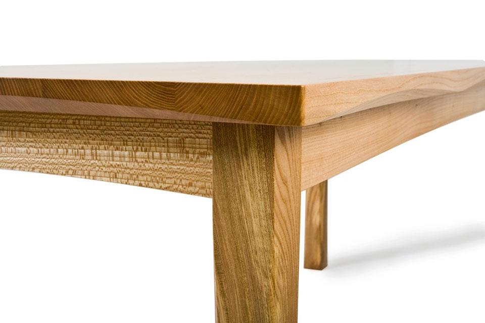 Elm Dining Table - corner view