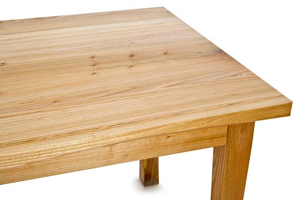 Handmade Elm Dining Table - top