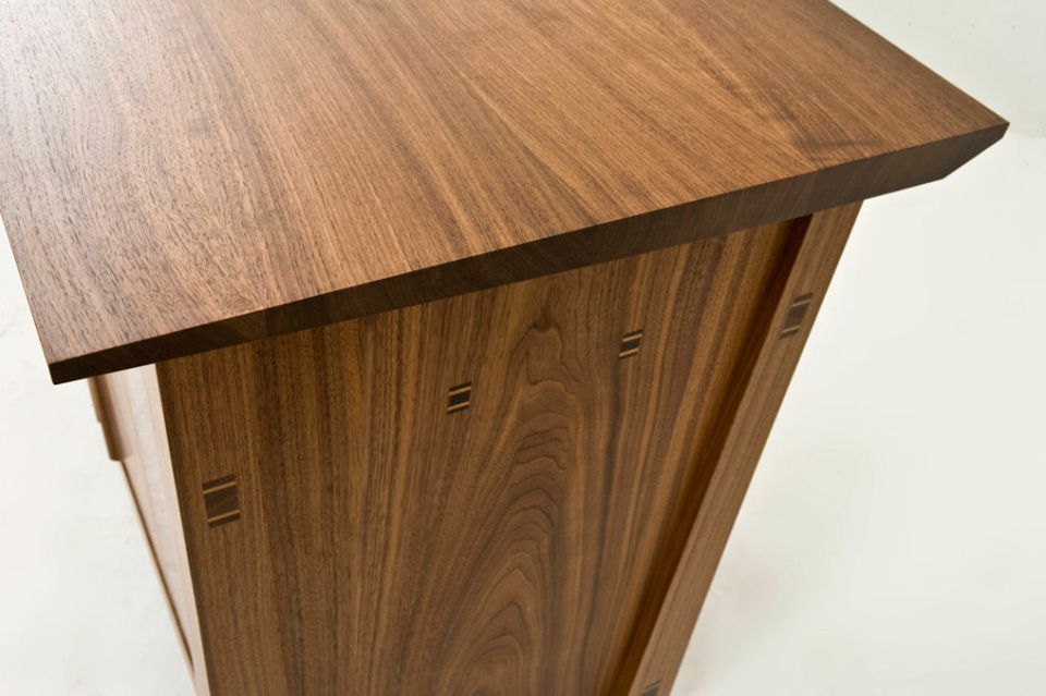 Walnut Sideboard - top end