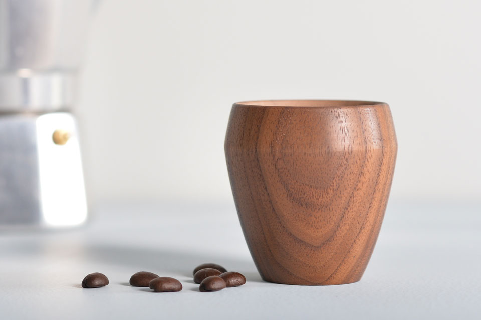 Walnut Espresso Cup - Side View