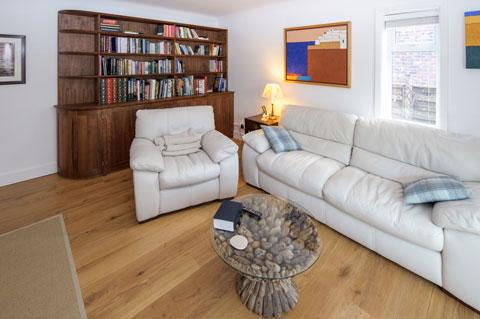 Bespoke Walnut Bookcase - room setting