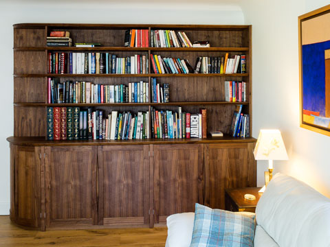 Bespoke Fitted Bookcase in Walnut