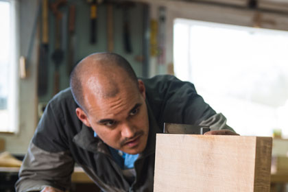 furniture making course attendee