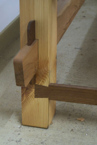 Loose wedged tenon detail