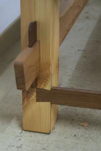 Loose wedged tenon detail