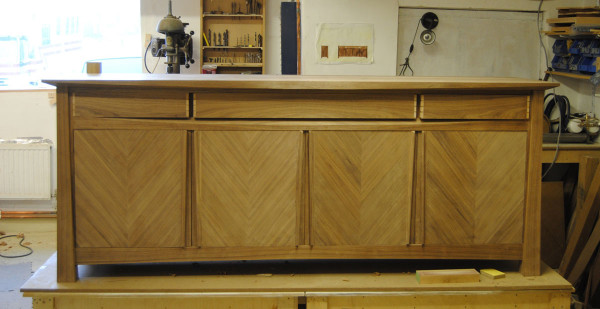 Bespoke sideboard with the top fitted