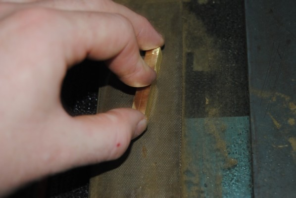 Final shaping and cleaning of hinges on a diamond slip
