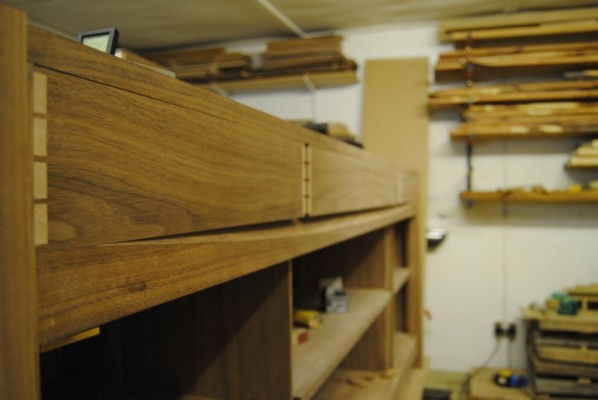 Drawer fronts after planing and cleaning