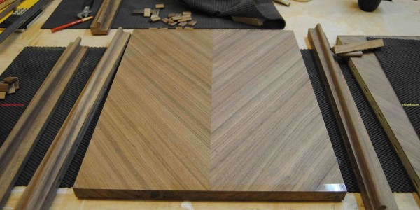 Walnut Sideboard - Veneered Door Panels