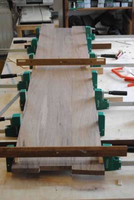 Glueing up the main panels for the sideboard carcass