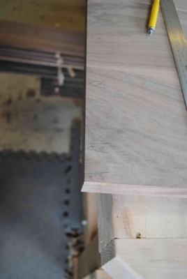 Lap-dovetails marked out