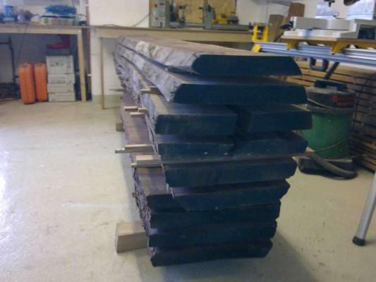 Stacked Walnut boards