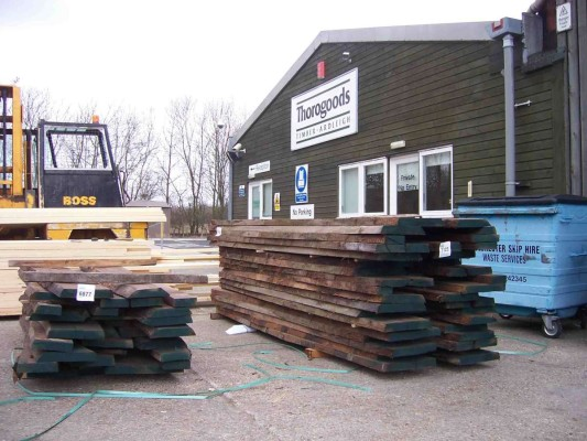 Sourcing timber - packs of Walnut awaiting my inspection