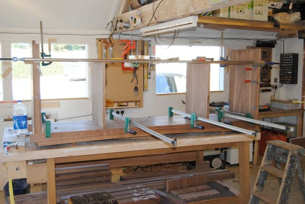 Sideboard dry-fit clamping run