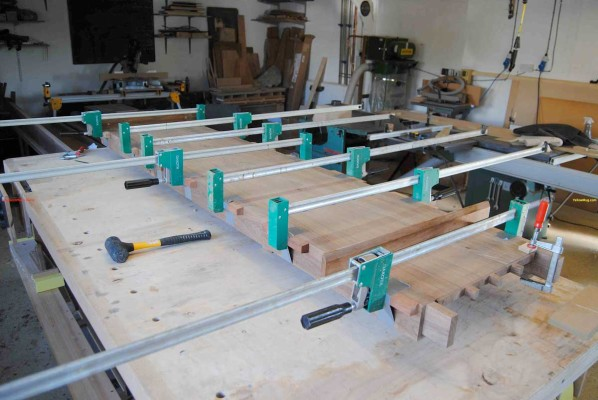 Sideboard glue up