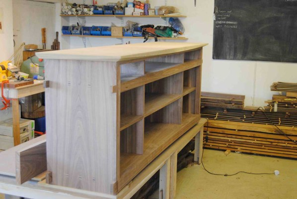 Sideboard glued up with mock top