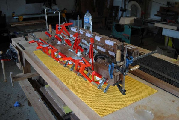 legs glued and clamped up