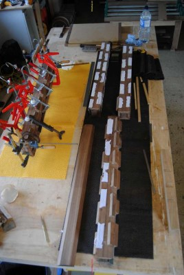 Blocks used to aid glue-up