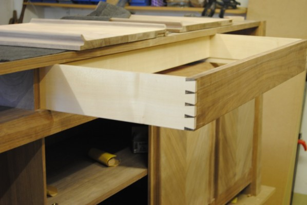 Test fitting drawers