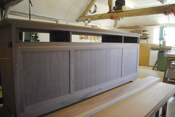 Walnut sideboard back