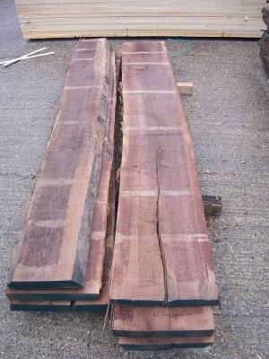 Walnut timber planks
