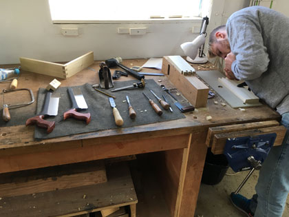 professional long-term furniture making course student