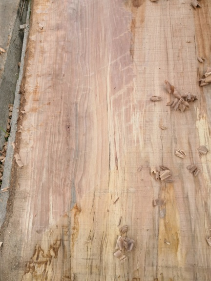 Milling and drying flamed beech