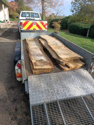 Ashtead Common Oak arriving at AM Fine Furniture Workshop